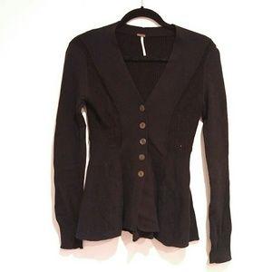 Free People Women's Black Sweater XS